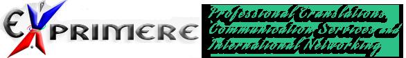EXPRIMERE en ENGLISH Logo